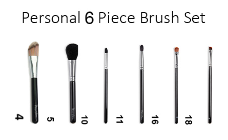 Personal 6 peice Brush Set copy